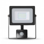 V-TAC 5802 FLOODLAMP SLIM SENSOR 20W LED 4500K