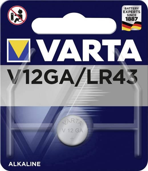 Varta alkaline knoopcel batterij V12GA 1,5V
