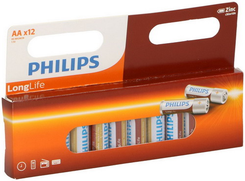 Philips Longlife R6 batterij (AA) 1.5V 12 ST