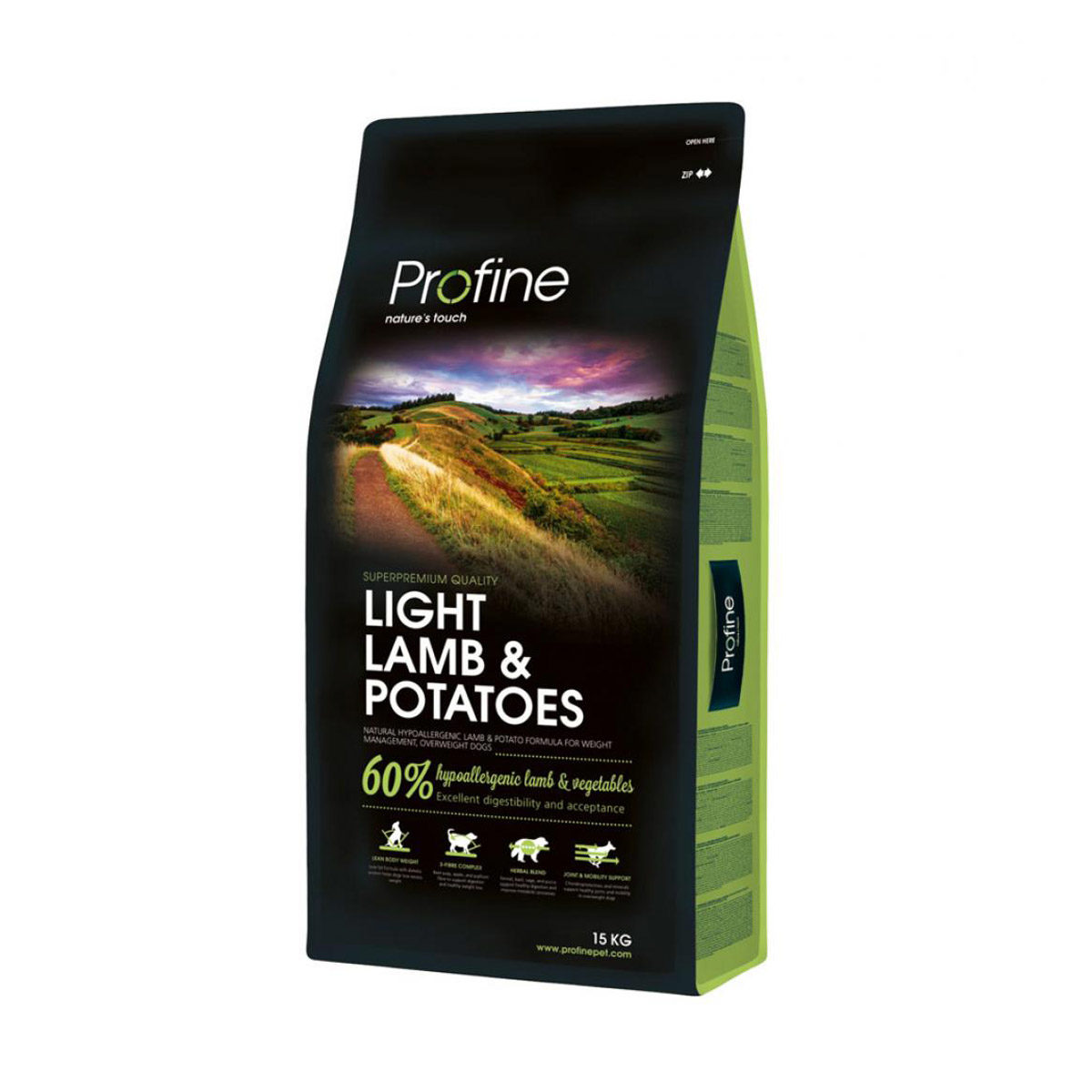 PROFINE DOG ADULT LIGHT LAM/POT 15KG