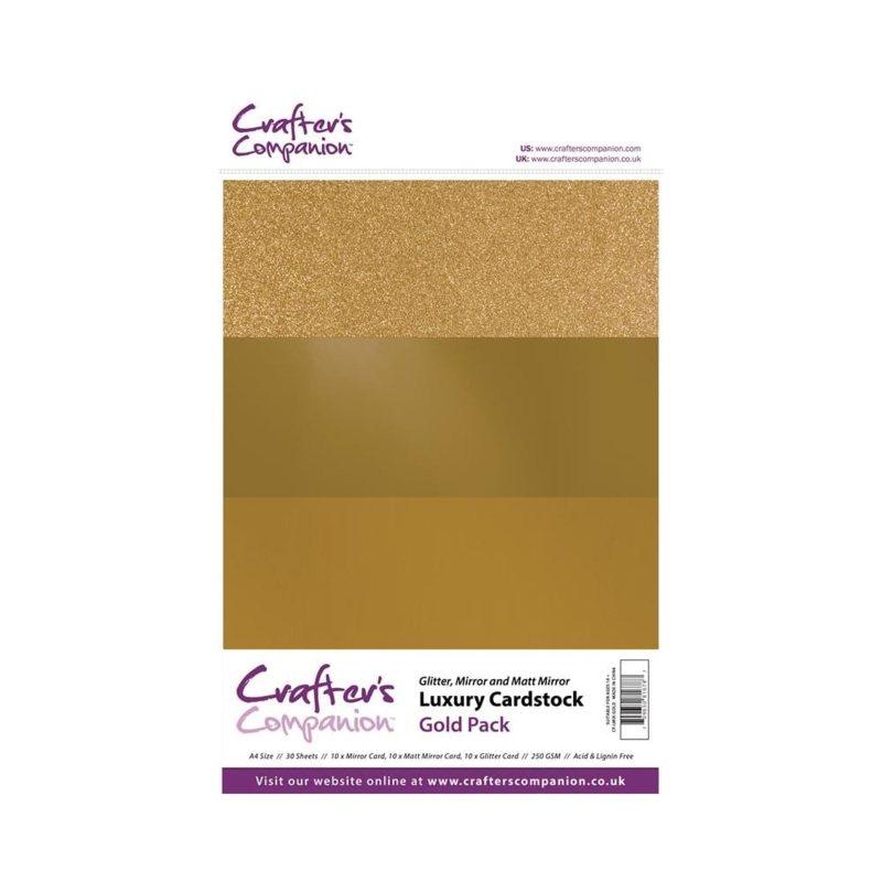 Luxury Cardstock Pack A4 Gold