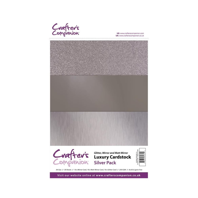 Luxury Cardstock Pack A4 Silver