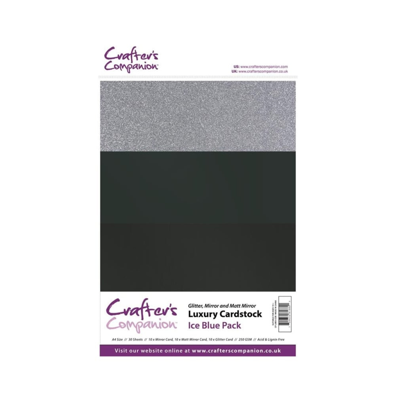 Luxury Cardstock Pack A4 Ice Blue