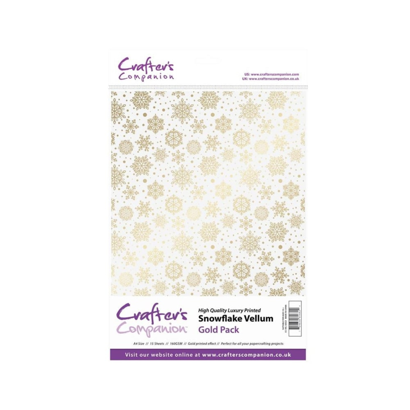 Snowflake Vellum Gold pack A4