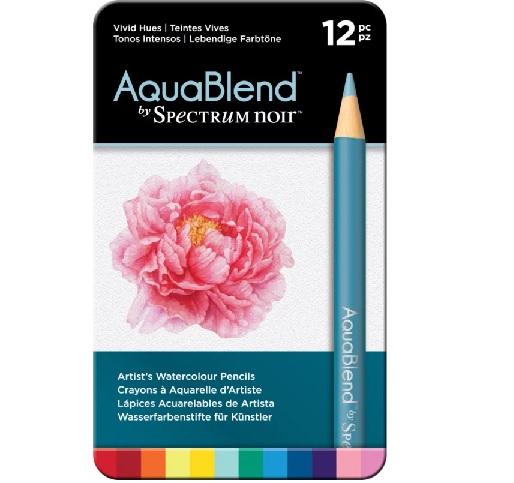 AquaBlend Potloden a 12 stuks - Vivid Hues (Levendige tinten)