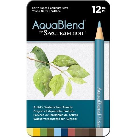 AquaBlend Potloden a 12 stuks - Earth Tones (Aardetinten)
