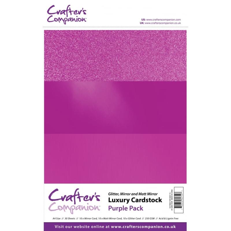 Luxury Cardstock Pack A4 Purple