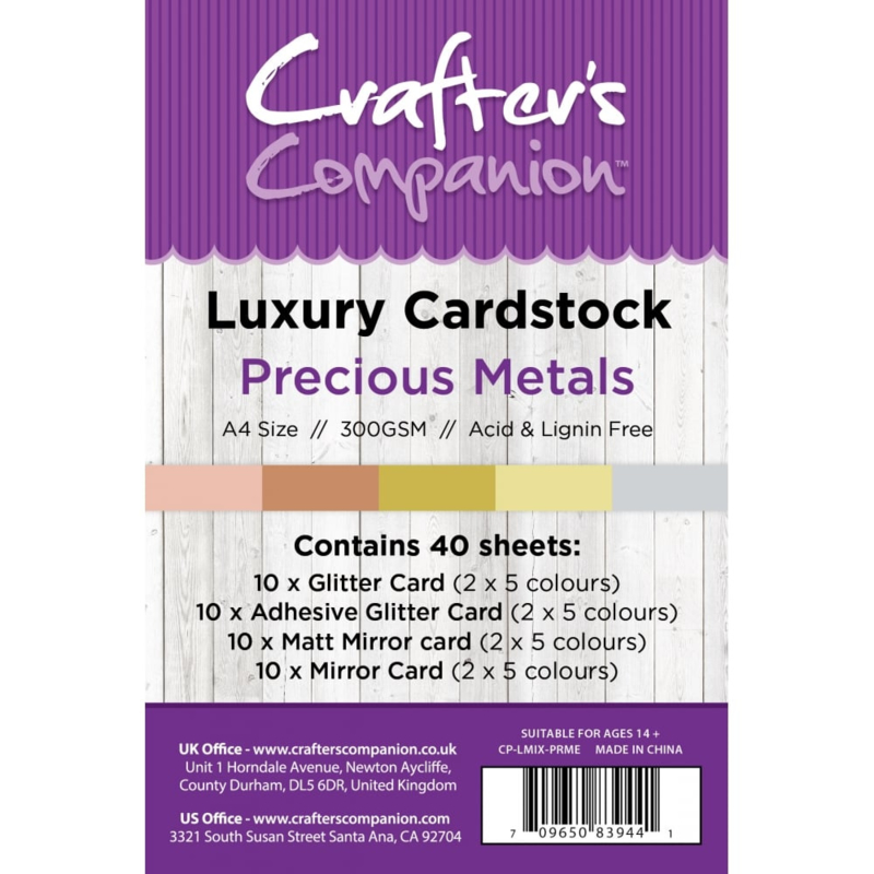 Luxury Cardstock Pack A4 Precious Metals