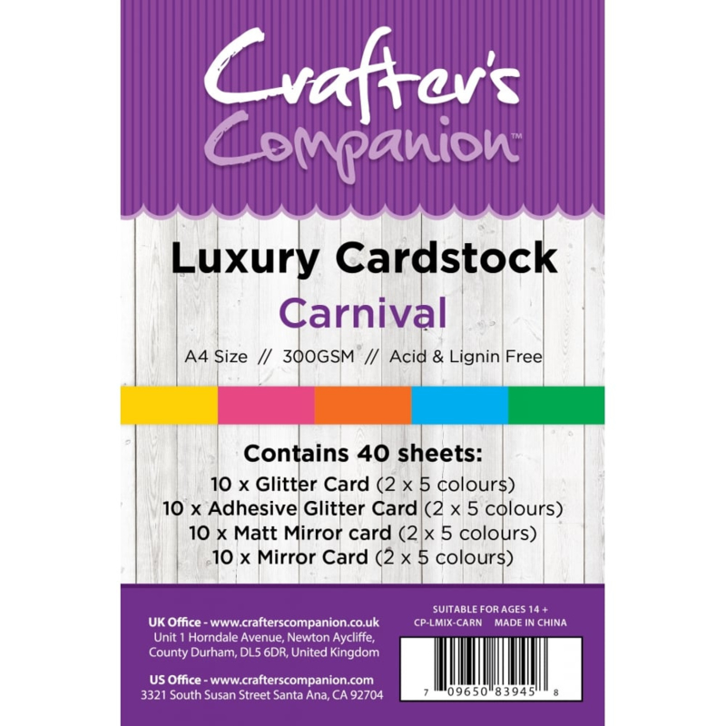 Luxury Cardstock Pack A4 Carnival
