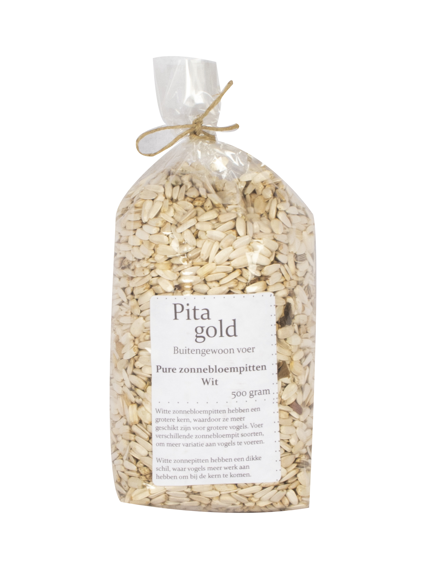 PITA GOLD ZONNEBLOEMPITTEN WIT 500 GRAM