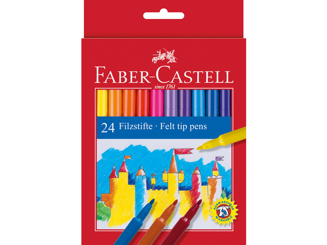 FABER-CASTELL VILTSTIFTEN 24 STUKS KARTON ETUI