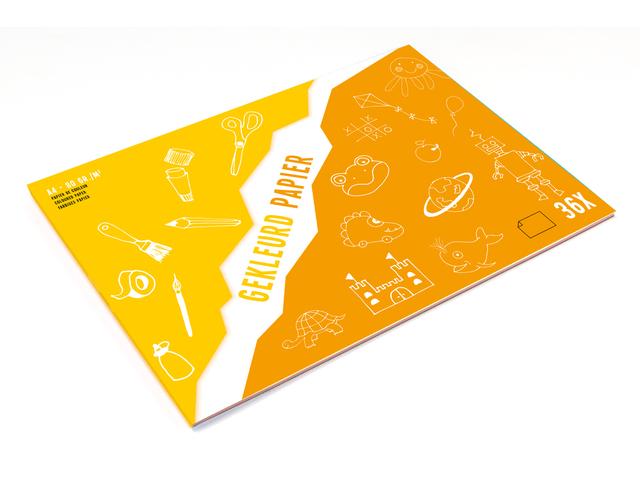 Kangaro knutselblok A4 gekleurd papier