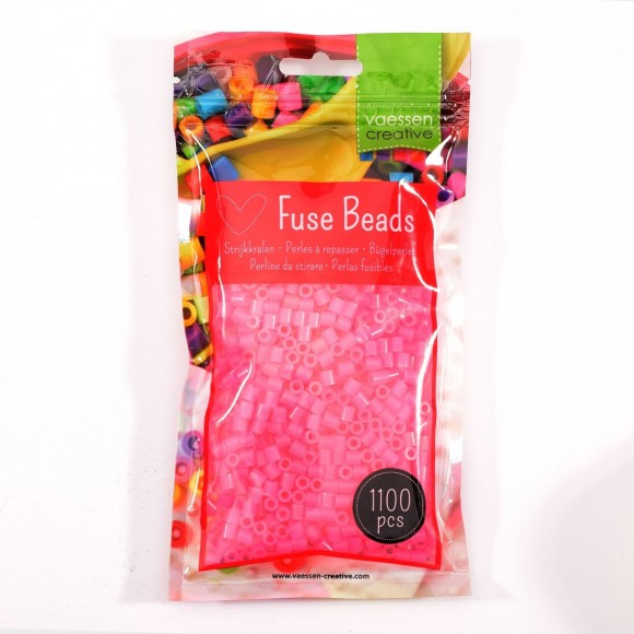 Vaessen Creative strijkkralen 1100pcs Neon Pink