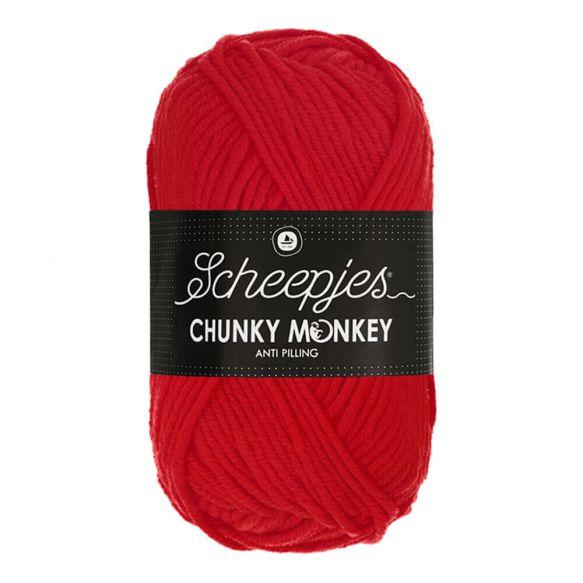 Scheepjes Chunky Monkey 100g - 1010 Scarlet