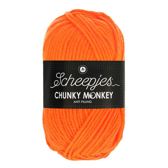 Scheepjes Chunky Monkey 100g - 1256 Neon Orange