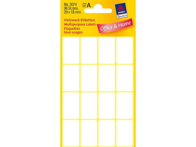 Zweckform etiket 29x18 96 stuks