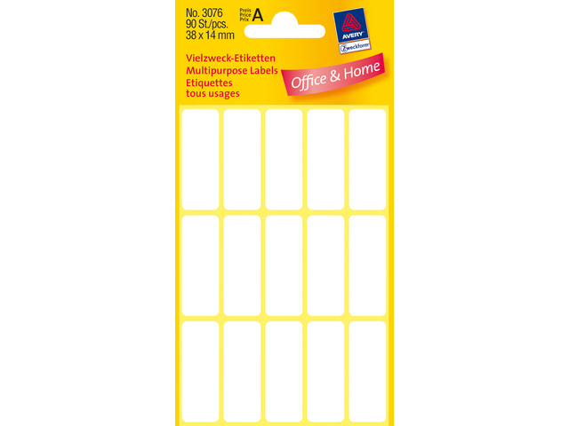 Zweckform etiket 38x14 90 stuks
