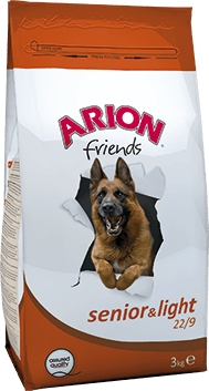 ARION HOND SENIOR-LIGHT 22/9 3 KG