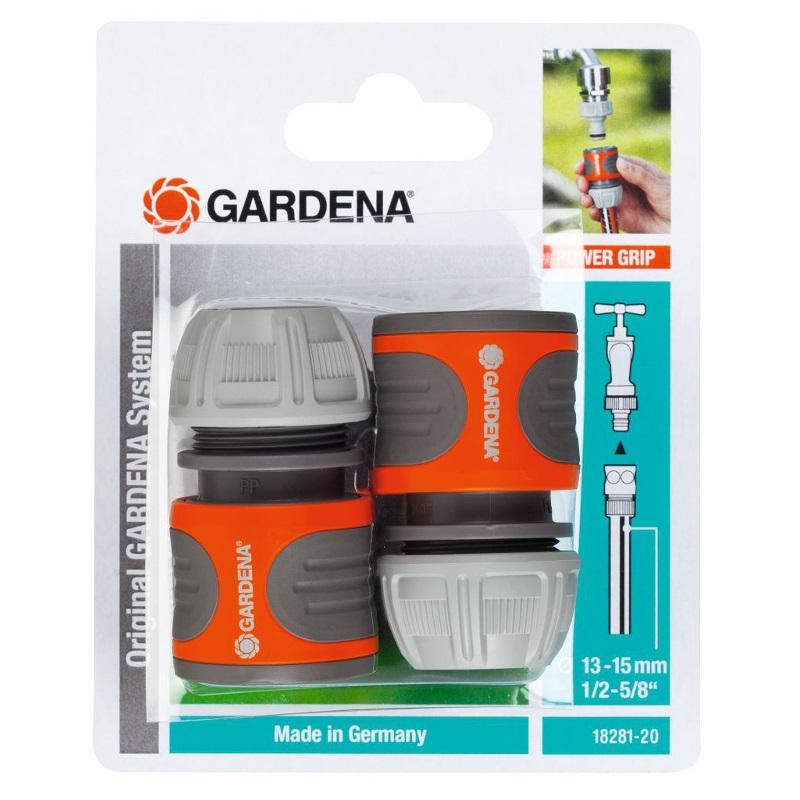 "Gardena slangstuk 13-15mm (1/2""-5/8"") 2 stuks"