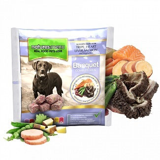 NATURES MENU DOG FROZEN BANQUET 1 KG.