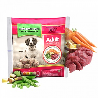 NATURES MENU DOG FROZEN BEEF 1 KG.