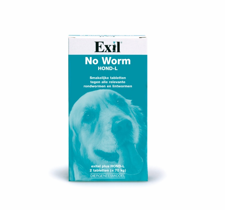 NO WORM EXITEL HOND LARGE 2 TABL