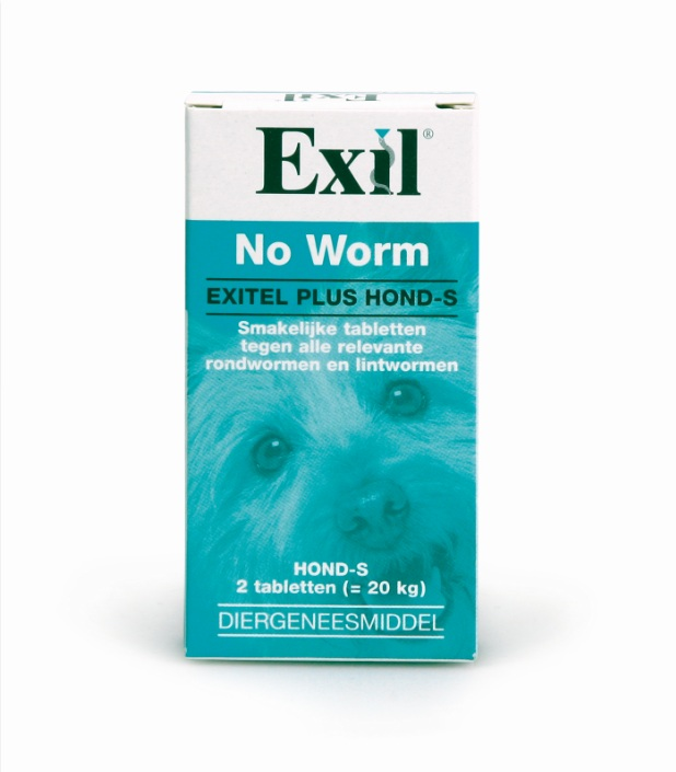 NO WORM EXITEL HOND SMALL 2 TABL