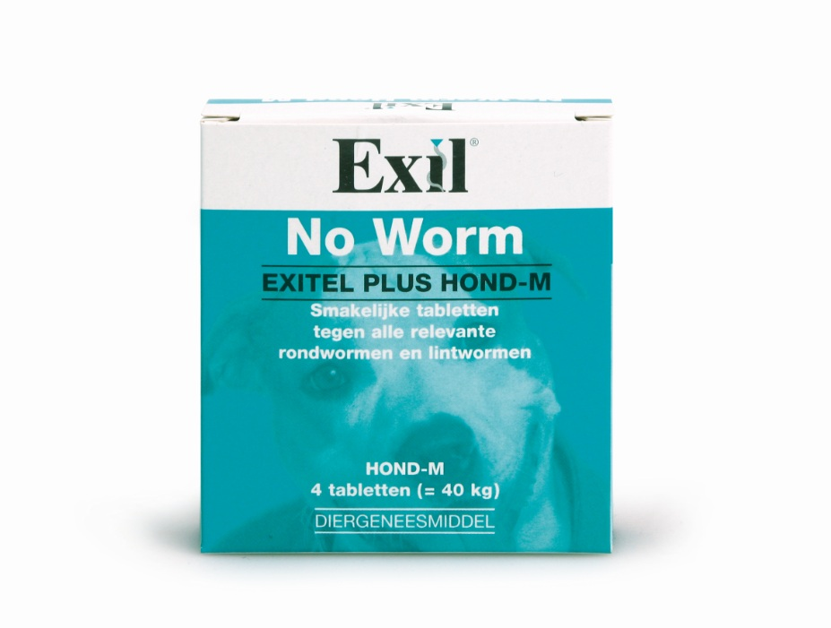 NO WORM EXITEL HOND MEDIUM 4 TABL