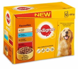 PEDIGREE POUCH ADULT FAVOUR 12X100 GR