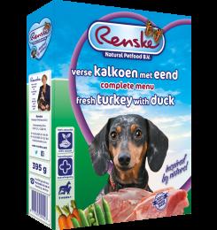 RENSKE ADULT KALKOEN/EEND 395 GR KALKOEN