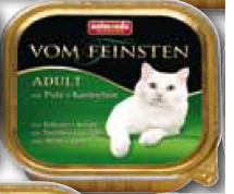 FEINSTEN CAT ADULT KALK+KONIJN 100 GR