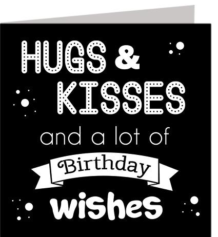 Felicitatiekaart Hugs & Kisses
