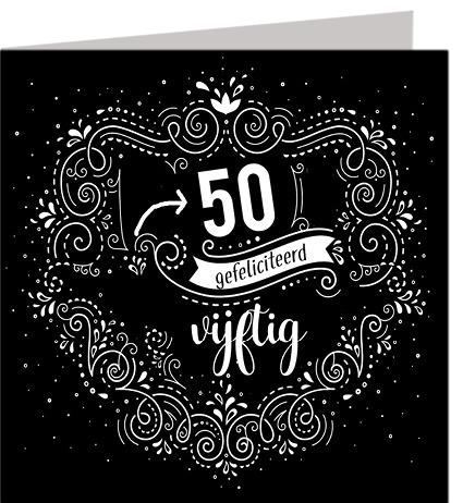 Felicitatiekaart 50 jaar