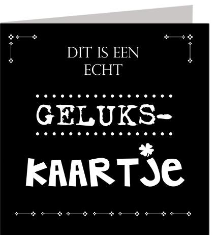 Wenskaart Gelukskaartje