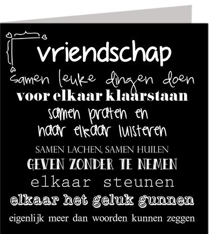Wenskaart Vriendschap