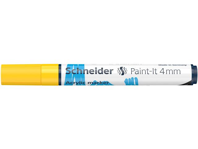 Acryl Marker Schneider Paint-it 310 4mm geel
