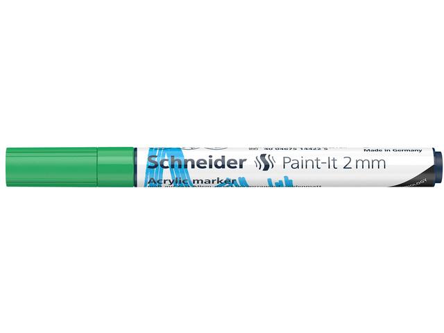 Acryl Marker Schneider Paint-it 310 2mm groen