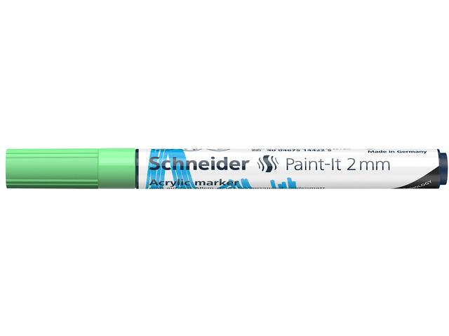 Acryl Marker Schneider Paint-it 310 2mm pastel groen
