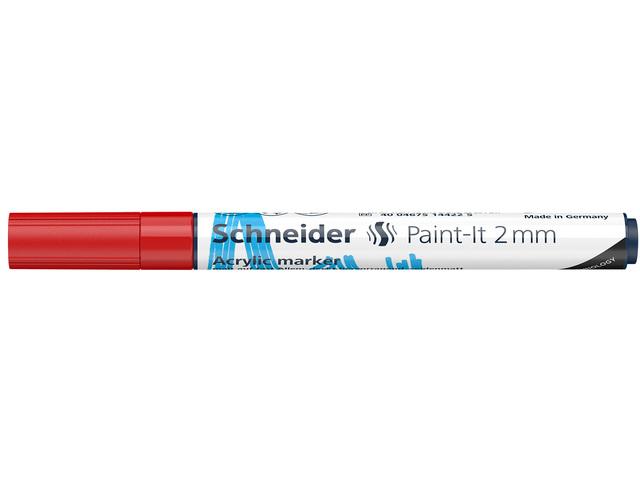 Acryl Marker Schneider Paint-it 310 2mm rood
