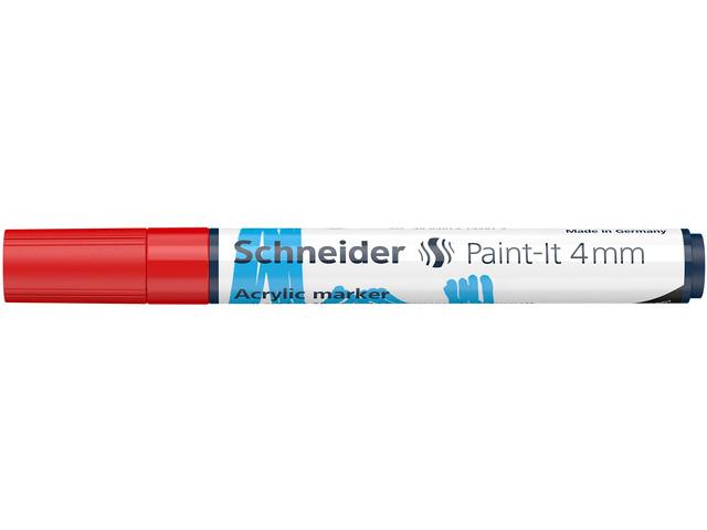 Acryl Marker Schneider Paint-it 310 4mm rood