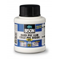 Bison hard PVC lijm gel 250ml (met kwast)