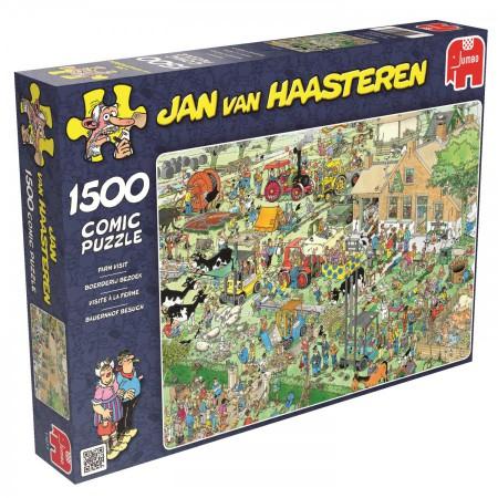 Puzzel Jan van Haasteren Boerderij bezoek 1500 stukjes (online uitverkocht)