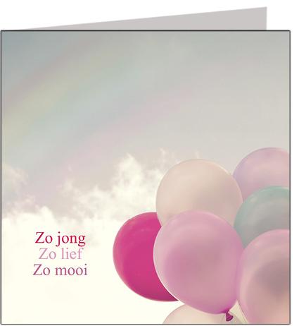 Condoleancekaart Zo jong