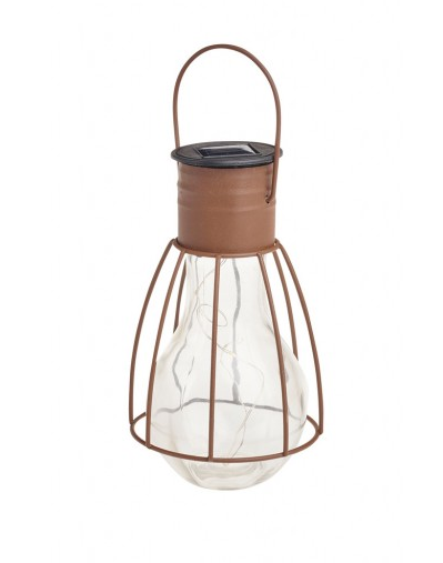 COLE & BRIGHT CAGED LIGHTBULB LANTERN L23004