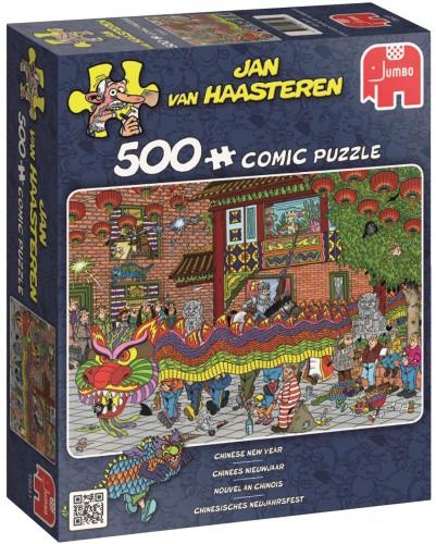 Puzzel Jan van HaasterenChinees Nieuwjaar 500 stukjes (online uitverkocht)