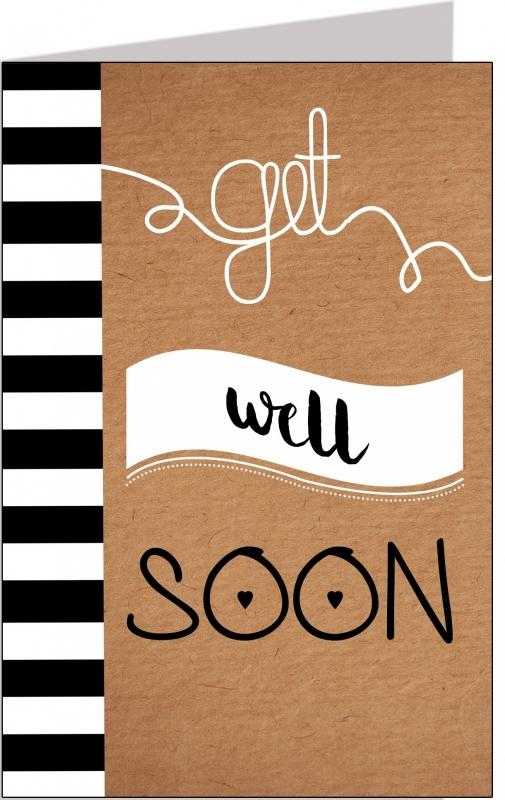 Wenskaart Get well soon