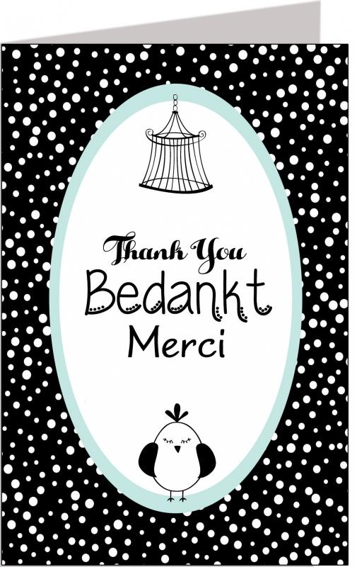 Wenskaart Bedankt