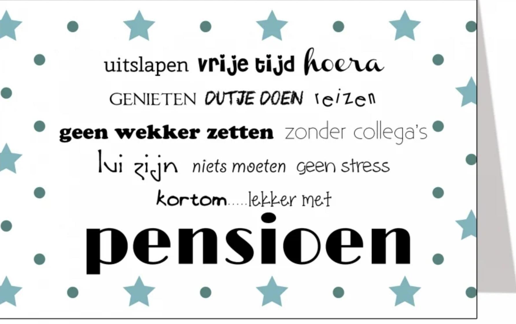 Wenskaart Pensioen