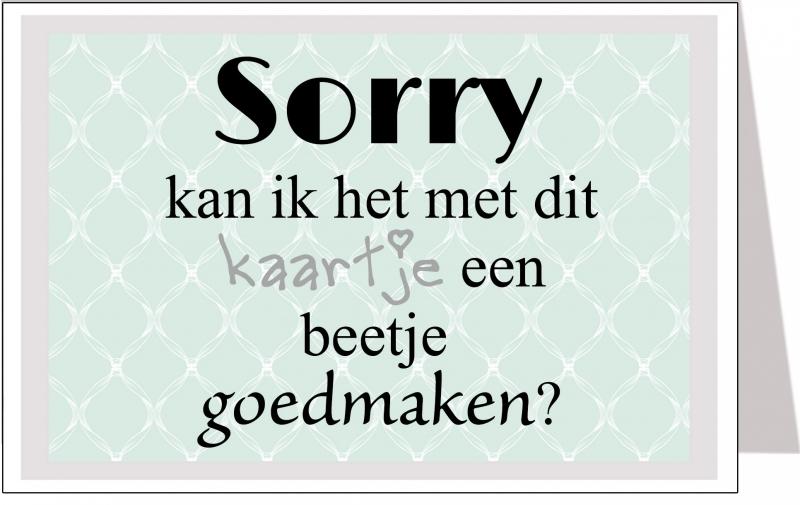 Wenskaart Sorry