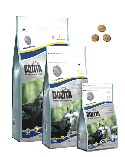 BOZITA FELINE SENSITIVE DIET & STOMACH 2 KG.